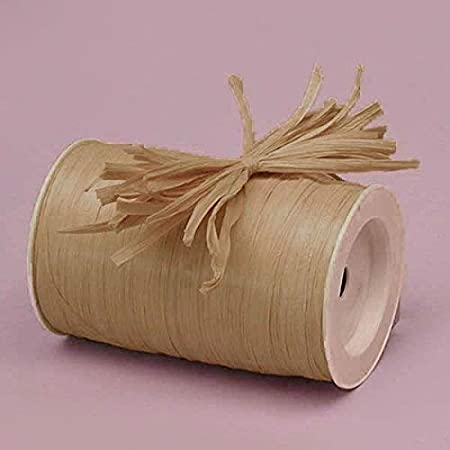 Matte Raffia Ribbon - 100 Yards (Tan)