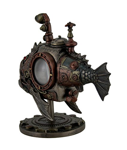 Veronese Design Hand Painted Steampunk Submarine Sci-fi Fantasy Statue 4