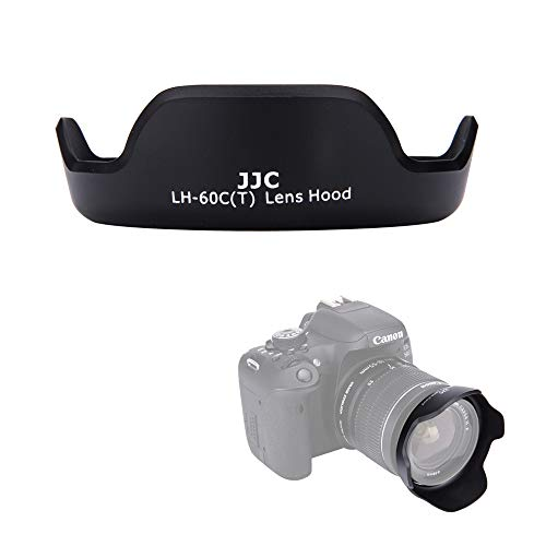 JJC EW-60C Dedicated Reversible Lens Hood Shade for Canon EOS Rebel T7 T6 T5 T4i T3i T2i Camera with Kit Lens Canon EF-S 18-55mm f/3.5-5.6 is II,Replace OEM Canon EW-60C Lens Hood