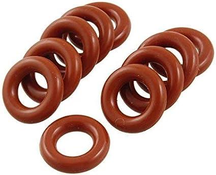 Anillos tóricos de silicona roja Sellos de aceite 38 mm OD 3,1 mm ...
