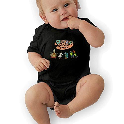 FAMURR Rocko's Modern Life Toddler Cotton Short Sleeve Playsuits Bodysuit Playsuits Black