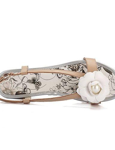 Sandalias y almond Blanco Oficina Abierta Zapatos Trabajo Casual LFNLYX de Punta mujer Almendra Semicuero Cuñas Cuña Tacón Vestido 81wnq4fv