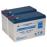 Powersonic PS-1270 12 Volt 7 AH SLA Battery .250 F2 TERMINAL - 2 Pack
