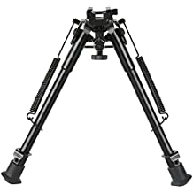 CVLIFE 9-13 Inches Rifle Bipod with Solid Sling Adapter Base