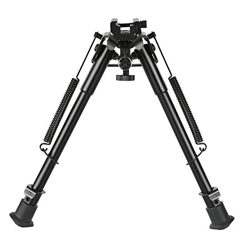 (CVLIFE 9-13 Inches Rifle Bipod with Solid Sling Adapter Base)