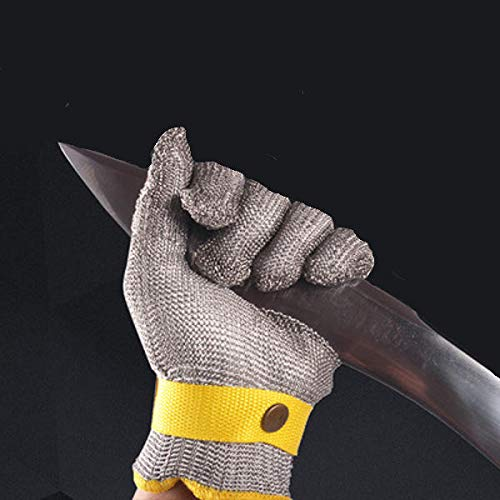 Stainless Steel Wire Safety Golves Cut Proof Stab Resistant Metal Glove Grade 5 - Hardware & Accessories Industrial Hardware - (XS) - 1 x Stainless Glove