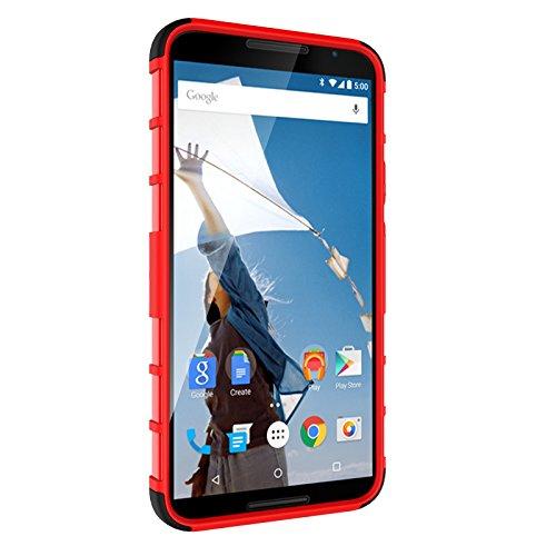 Nexus 5X / Angler Funda Case, Moonmini® Neumáticos raya híbrido combinado de alto impacto resistente a prueba de golpes Defensor cubierta de la caja con pata de cabra para LG Nexus 5X / LG Angler - Ne