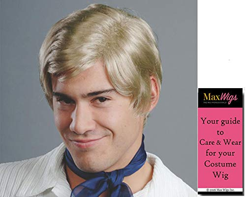 Freddie Mystery Color Blonde - Enigma Wigs Mens Jones Cartoon Prinze Short 70s Hollywood Bundle MaxWigs Costume Wig Care Guide -