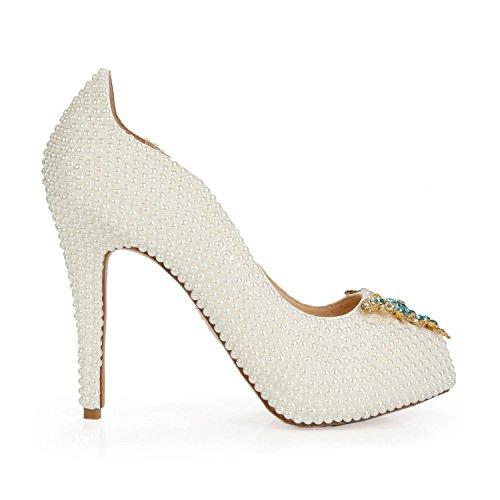 pour Chaussures High Talons Hauts Femmes Stiletto Heel à White qHZHwt