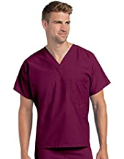 Landau Premium Uniform Reversible One Pocket V-Neck Scrub Top