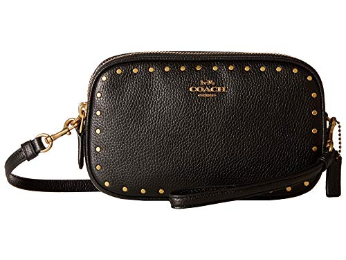 COACH Women's Crossbody Clutch With Rivets B4/Black One Size