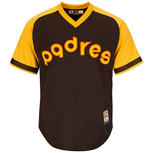 San Diego Padres Cooperstown Majestic Cool Base Retro Brown ()