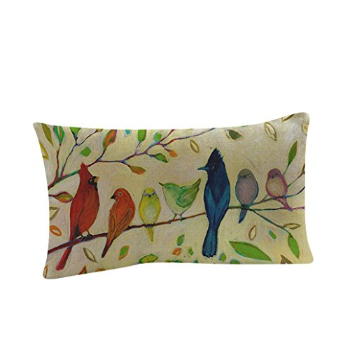 Beautiful Sofa (KMG Kimloog Rectangle Pillow Case, Beautiful Oil Painting Flower Print Festival Sofa Bed Home Throw Cushion Cover Pillowcase (B))