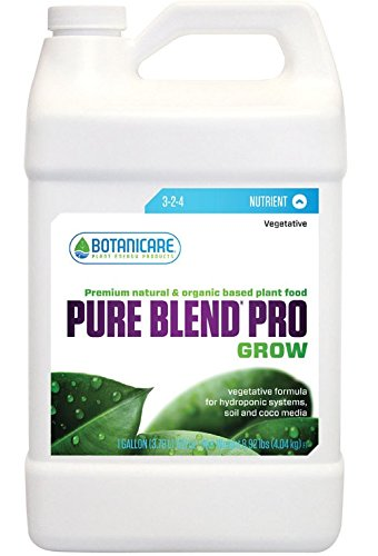 Sunlight Supply Botanicare Pure Blend Pro Grow Formula — 3-2-4 Formula, 1-Gallon