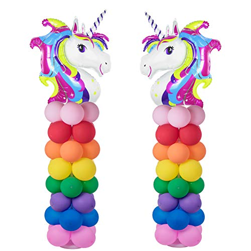Rainbow Unicorn Balloon Arch Kit 2 Sets 80