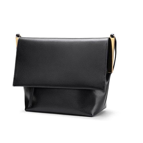 spalla tracolla a Borsa ampolla sub con donna nero con in casual Borsa mano lo a per tracolla Borsa shopping retro a a pelle colore da CcW5UUFq