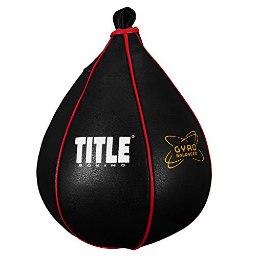 TITLE Boxing Gyro Balanced Speed Bags, Black, Large