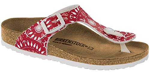 Birkenstock Kids Gizeh Sandal Nautical Print Red Birko-Flor Size 30 N EU / 12-12.5 N US Little Kid