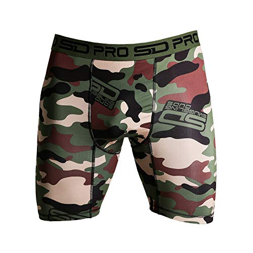 (Smuggling Duds Compression Shorts - Groin Protector Guard - Thermal Shorts for Men)