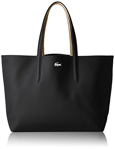 Lacoste Anna Shopping Bag, NF2142AA, Black Warm Sand by Lacoste