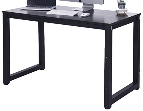 Merax 16106 Modern Simple Design Computer Desk, Table, Workstation for Home and Office, Black/Espresso