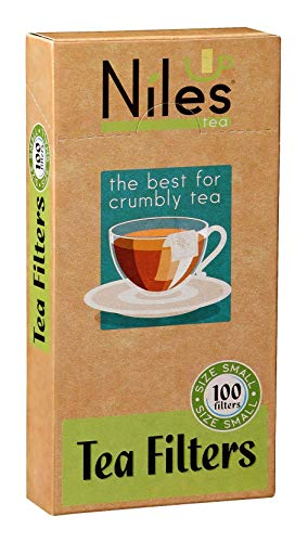 Empty Tea Filters Bags Size S 5.1-inch x 2.6-inc (100-Count) Disposable Filters for Infusers, Loose Leaf Leaves, Coffee Grounds, Herbs | Heat Sealable Filtration | Natural, Biodegradable, Eco Friendly