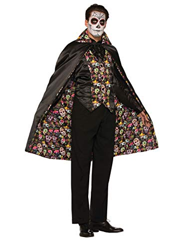 Forum Men's Day Of The Dead Cape, Multi, One Size]()