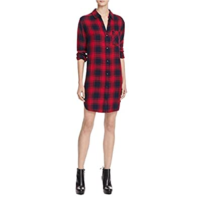 Rails Womens Bianca Plaid Long Sleeves Shirtdress