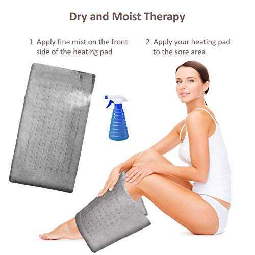 """XL Heating Pad Electric Heating Pad for Moist Heat Therapy Fast Neck/Shoulder/Back Pain - 24"""", GENIANI"""