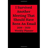 I Survived Another Meeting That Should Have Been An Email 2019-2020 Weekly Planner