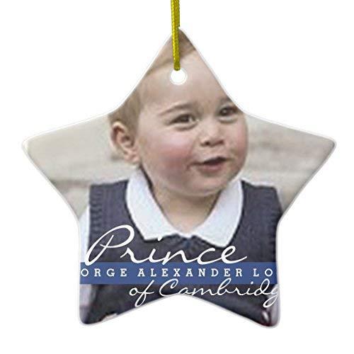Athena Bacon Prince George - William & Kate Xmas Decoration Ceramic Ornament Star Shape