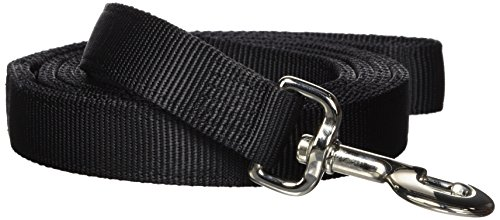 Hamilton Double Thick Nylon Dog Training Lead, 1-Inch by 6-Feet, Black