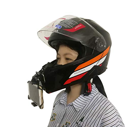 Motorcycle/Mountain Bike Full Face Helmet Chin Mount for iPhone 8 7 6 5 Plus Samsung Cell Phone and Gopro Camera