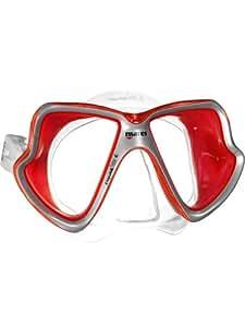 Mares X-Vision Mid LiquidSkin Dive Mask-Red