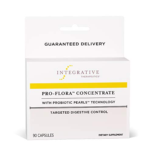 Integrative Therapeutics - Pro-Flora Concentrate with Probiotic Pearls Technology - Targeted Digestive Control (Shelf Stable) - 90 Capsules