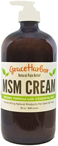 MSM Cream, Original Formula, 32-oz bottle with bonus 1.8-oz jar