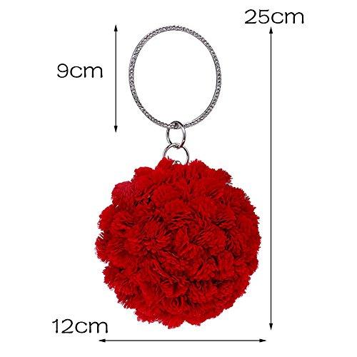 Clutch Fashion Prom A Handbag Design Wedding Flower Handbag Bag Ladies Bag Bag Knickers for Lace Evening Bridal Satin Handmade Envelope v7AqSBT