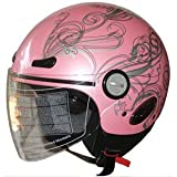 Adult Open Face Motorcycle Helmet DOT pink (318) 365 S