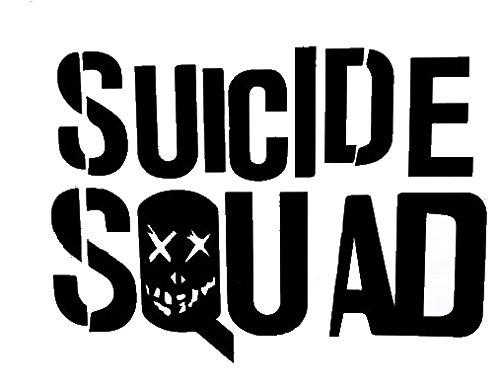 Suicide Squad Decal Vinyl Sticker Cars Trucks Vans Walls Laptop  White  5.5 x 4 in CCI1002