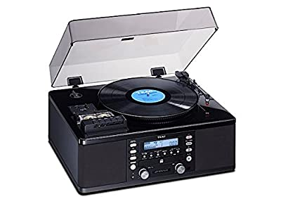 TEAC turntable / Cassette player with CD recorder LP-R550USB-P / PB (Piano Black) by TEAC