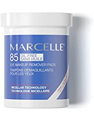 Marcelle Oil-Free Eye Makeup Remover Pads, Hypoallergenic and Fragrance-Free, 85 pads
