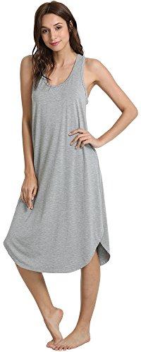 NEIWAI Women's Sleep Dress Long Bamboo Nightgowns Sleepwear Heather Grey 4X