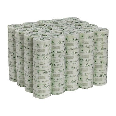 Georgia-Pacific Professional Envision 19880/01 Toilet Paper, Embossed, 550 Sheets Per Roll (Case of 80 rolls) (240 ROLLS)