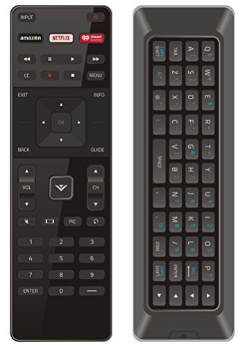 NEW Qwerty Dual Side Remote XRT500 with Back light for VIZIO Smart TV M43-C1 M49-C1 M50-C1 M55-C2 M60-C3 M65-C1 M70-C3 M75-C1 M80-C3 M322I-B1 M422I-B1 M492I-B2 M502I-B1 M552I-B2 M602I-B3 M652I-B2