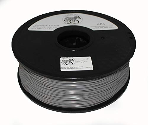 COLORME3D QUALITY 3D PRINTER FILAMENT STONEHENGE GREY ABS-1KG (2.2 LBS) MADE IN THE USA 1.75 mm +/- 0.05 mm Accuracy- STONEHENGE GREY ABS by ColorMe3D