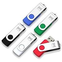 5 X MOSDART 8GB USB2.0 Flash Drive Swivel Bulk Thumb...