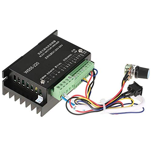 - WS55-220 DC 48V 500W CNC Brushless Spindle BLDC Motor Driver Controller
