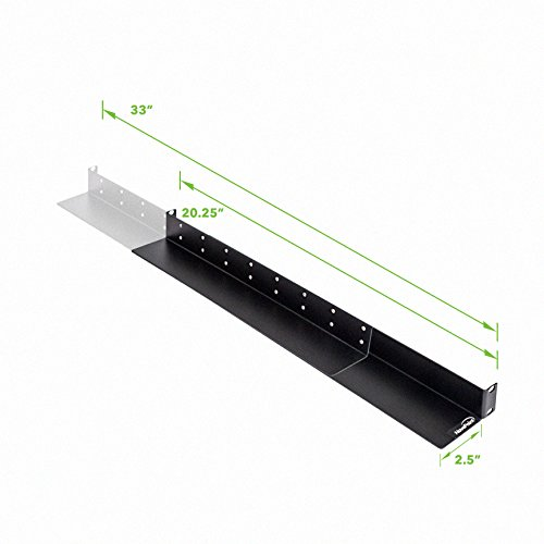 NavePoint Adjustable Rack Mount Server Shelf Rails 1U Full Depth 4-pack