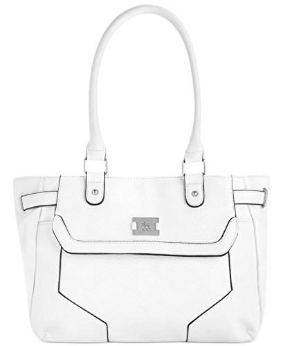 UPC 711372617993, Style&co. Handbag, Angled Overlay Satchel, White