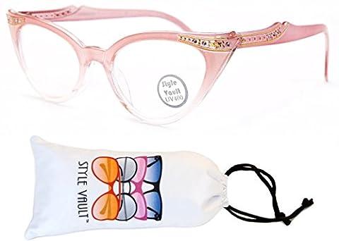 Wm16-vp Cateye Sunglasses /Clear Lens Eyeglasses (B2888F Baby Pink-Clear)